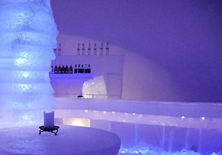 ice sauna spa finland laponie photo lux